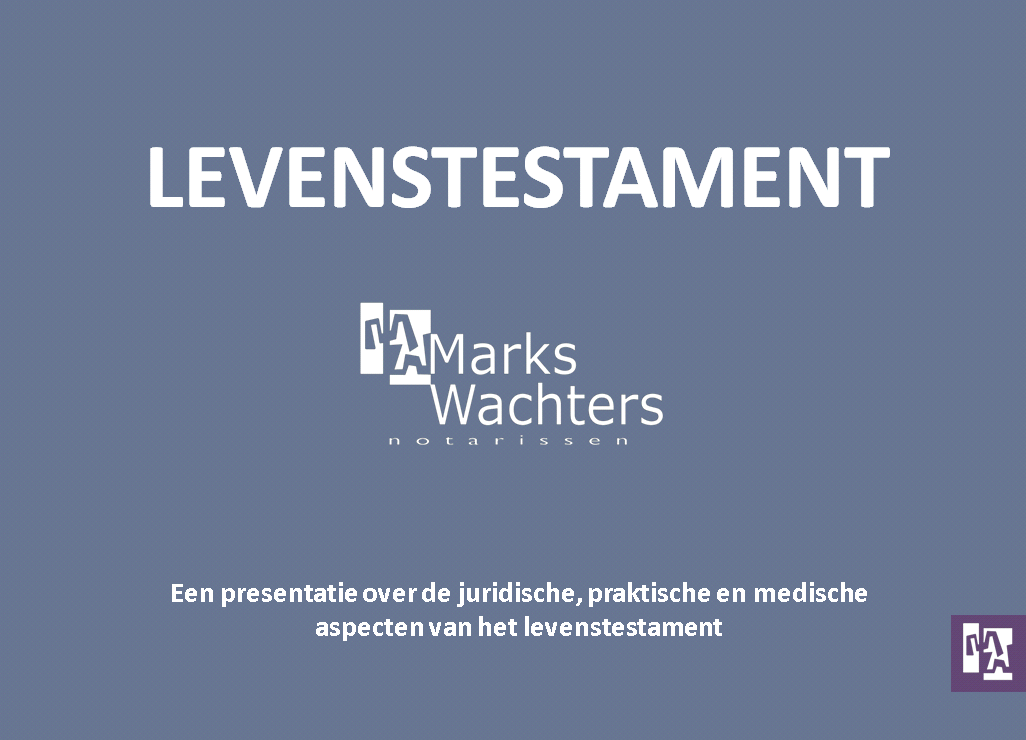 lezing levenstestament